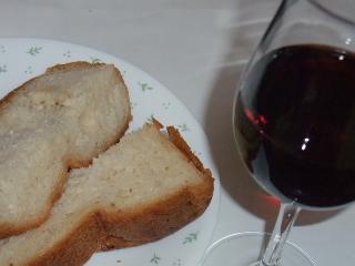 美味しいパンとワイン♪