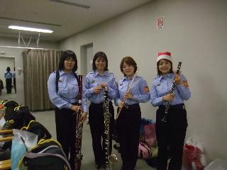 消防団の音楽隊!